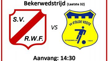 Bekerwedstrijd: RWF 1 – D' OLDE VESTE'54 1 (laatste 32)